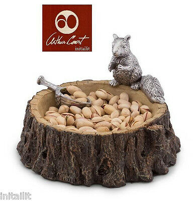 New In Box Authentic Arthur Court Standing Squirrel Nut Bowl W/scoop Ships Free