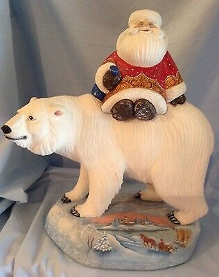 "G.DeBrekht Polar Bear Masterpiece Collection 15/100 2004 13.5""  Wood  $599.99"