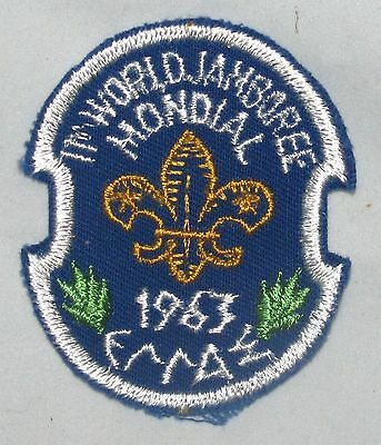 World Jamboree 1963 (Greece) Join-in Pocket Patch