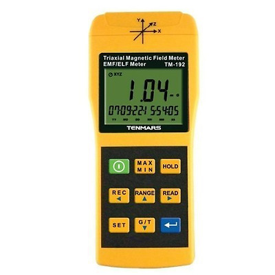 Tenmars TM-192D 3-axis EMF Meter Magnetic Field Meter with Data Logger 30Hz to 2