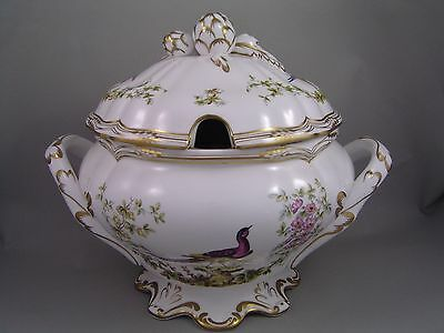 Very Rare Spode Chelsea Bird Large Gilded Soup Tureen.