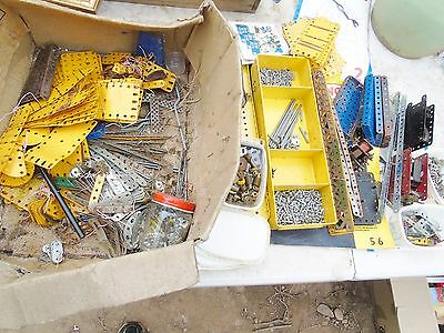 Vintage Large Job Lot Collection Of Retro Meccano Motors And Pieces