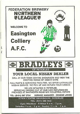 EASINGTON COLLIERY A.F.C. v NORTON & STOCKTON ANCIENTS 6th APRIL 1996