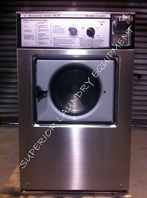Wascomat Junior W75 Washer, 18Lb, 220V, 3Ph, Coin Slide, Reconditioned