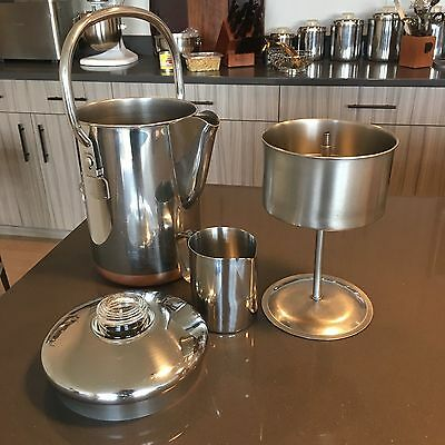 Revere Ware 14 Cup Coffee Percolator Copper Patent Pre 1962 Stainless Froth Milk