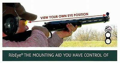 RibEye Mounting Aid for Shotgun Clay  shooting and Sporting Practice