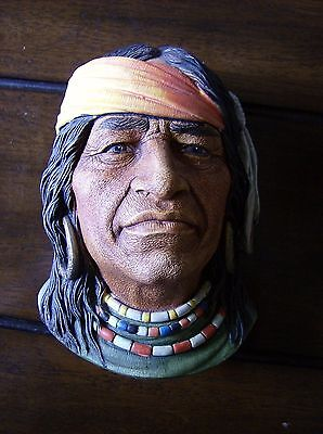 """Legend Products Vintage Chalk Head """"Navajo"""" 1984 Made IN England"""