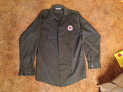 TEXACO GAS STATION ATTENDANT SHIRT vintage w/ Patch/  man who wears the star