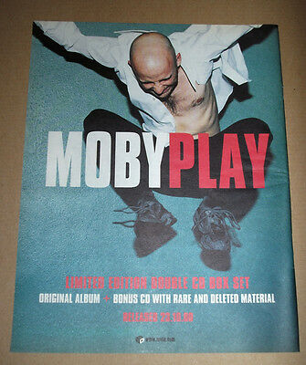 Moby - Play - 1999 - Original Advert Poster 37 X 29 Cm Electronica