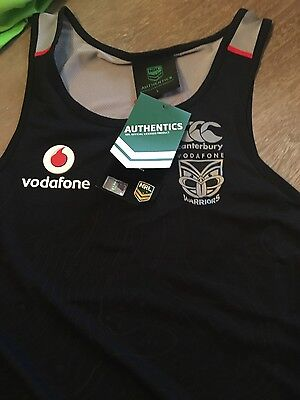 new zealand warriors nrl vest size large