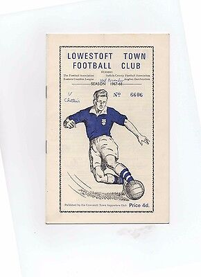 67/68 Lowestoft Town V Chatteris (Eastern Counties League)