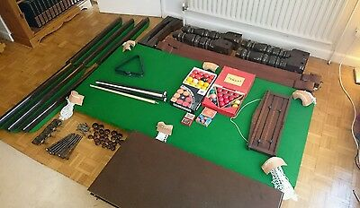 Riley snooker table 6x3 ft half size dining table