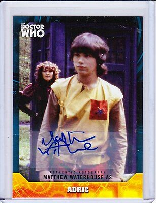 Doctor Who Signature Series Trading Card Autograph Matthew Waterhouse