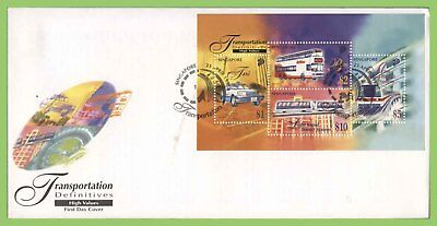 Singapore 1997 Transportation set and miniature sheets on four First Day Covers