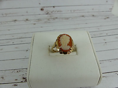 Vintage 9ct gold cameo Ring size N 1/2
