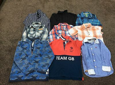 Boys Clothes Bundle 7-9 Years (9 Items) Jumper, Shirts Fat Face, Next, Team GB