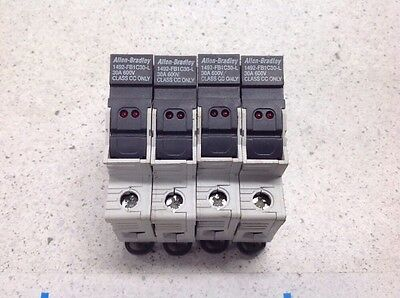 Lot of 4 - Allen Bradley 30A Fuse Holders 1492-FB1C30-L Holder with FUSE