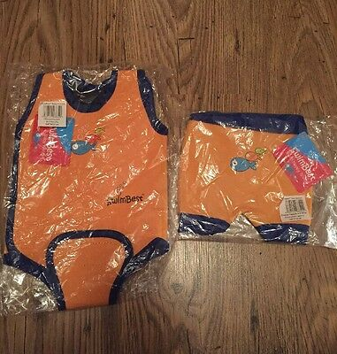 SwimBest Baby Wetsuit & Swim Nappy Fish Logo (Girls&Boys) Orange