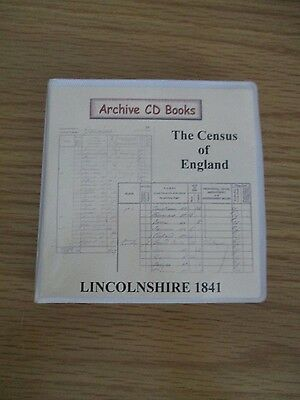 Lincolnshire 1841 Geneology Census CD's Set