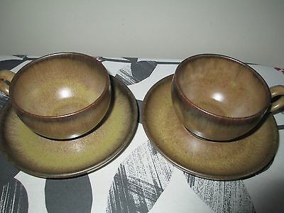 Denby Romany Cups And Saucers X 2, Vgc