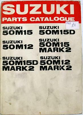 SUZUKI 50 Models Original Motorcycle Parts List Mar 1968 3rd Edit.