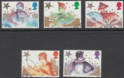 GB Stamps 1985, Christmas Panto Characters, set of 5 Very Fine Used from FDC