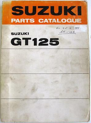 SUZUKI GT125L GT125M Original Motorcycle Parts List Mar 1975 #99000-91941
