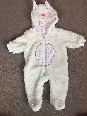 Baby Girls Next Pink And White Snowsuit Onsie 0-3 Months