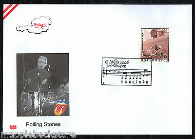 Charlie Watts - Rolling Stones - First Day Cover Austria 2006
