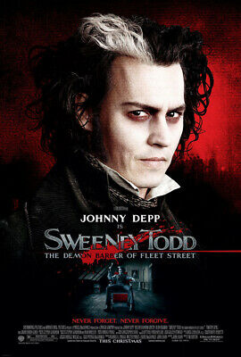 SWEENEY TODD MOVIE POSTER 2 Sided ORIGINAL FINAL 27x40 JOHNNY DEPP