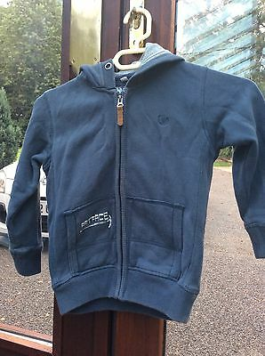 Fat Face Boys 4-5 Years Blue Hooded Jumper/jacket