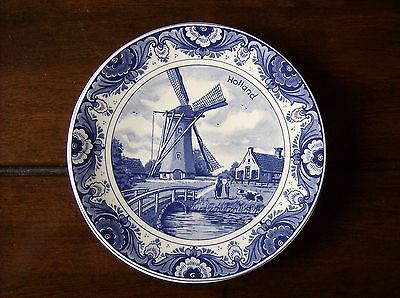 """Agro Delfts Blauw Holland Number 303 ~ 6.25"""" Plate Windmill Canal Bridge Cow"""