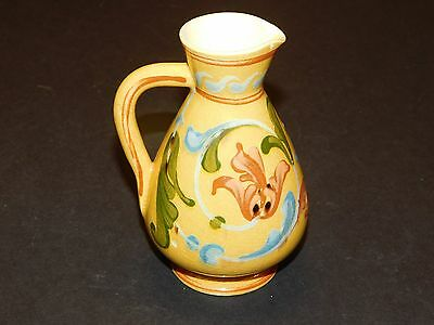 ALLER VALE c1880's YELLOW JUG WITH SCANDY PATTERN & IMPRESSED MALTESE CROSS MARK