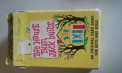 Vintage the house that jack built childrens card game complete