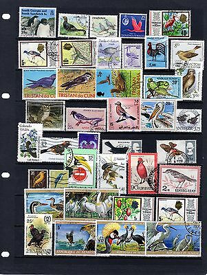 BIRDs, nice collection of Bird stamps , mainly Fine Used