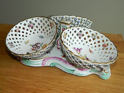 Antique 18th c Marcolini  Meissen porcelain centerpiece bowls for restoration