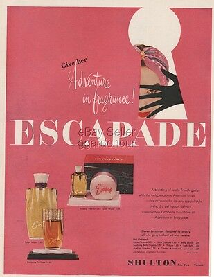 1954 Escapade Shulton Perfume Adventure in Fragrance Vintage Magazine Print Ad