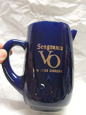 Vintage Imported Canadian Whisky Water Pitcher Seagram's VO Pub Jug
