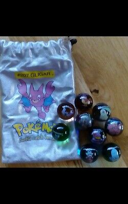 Pokemon MARBLES  with pouch bag