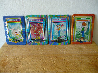4 x Rare Digimon Metal Cards From Taco Bell Promotion 2000