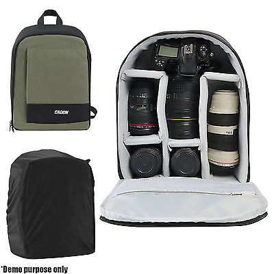 Waterproof Camera Bag Backpack Rucksack Case DSLR SLR for Canon Nikon Sony