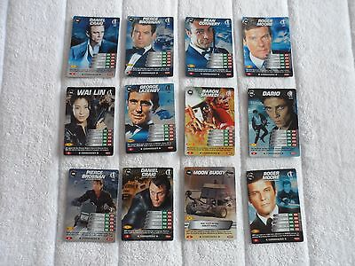 James Bond 007 Spy Cards 12 Rare 4 Super Rare 2 Ultra Rare