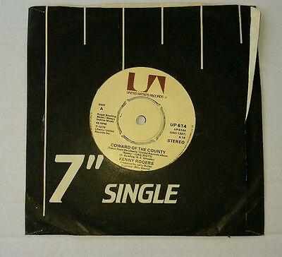 "Kenny Rogers - Coward of The County 7"" Vinyl Record Country Music Single"
