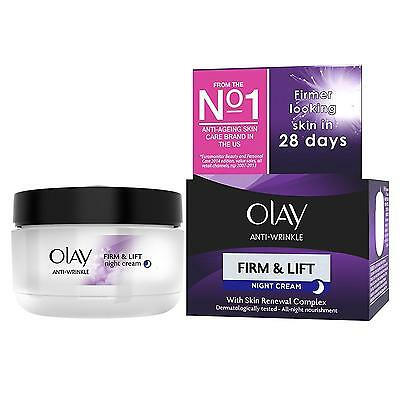 Olay Anti Wrinkle Firm and Lift Ageing Moisturiser Night Cream 50 ml