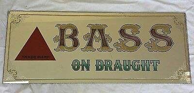 "Vintage Collectable ""Bass on Draught"" Pub Mirror.  Original 1960/70's"