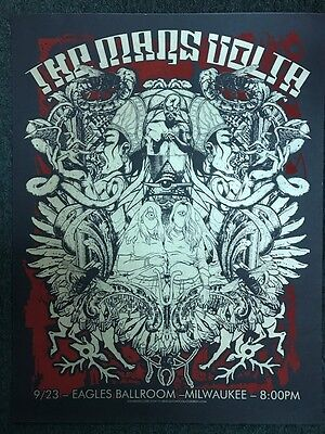 MARS Volta Jermaine Rogers Jared Connor MILWAUKEE 2006 gig poster print ed 200