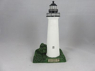"1999 Lefton POINT ISABEL LIGHTHOUSE  figurine #CCM122286  5"" TALL"