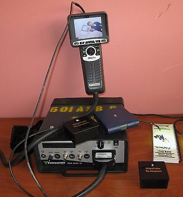GE Everest VIT PLS-500D XL Pro Color Videoscope Borescope System Flaw Detector