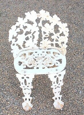Old Rare,Antique,Vintage Heavy Cast Iron/Wrought Iron Patio Chair