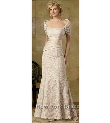size 10 cream lace 2 piece mother of the bride/groom dress nwt